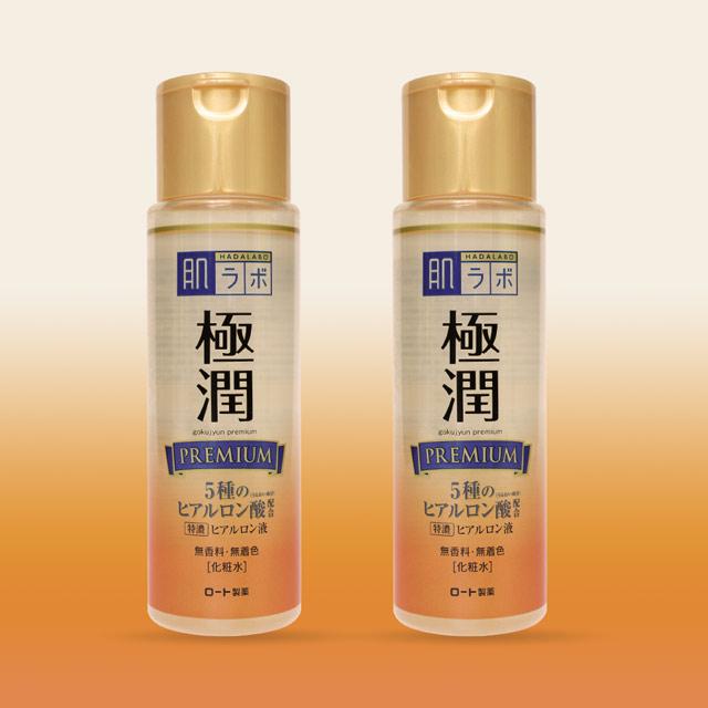 Dung dịch dưỡng ẩm Hada Labo Gokujyun Premium - xóa nhòa các dấu hiệu lão hóa.
