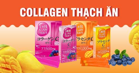 Collagen dạng bột - thạch ăn Nhật Bản