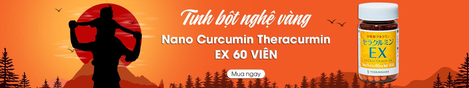 Tinh bột nghệ vàng Nano Curcumin Theracurmin EX 60 viên