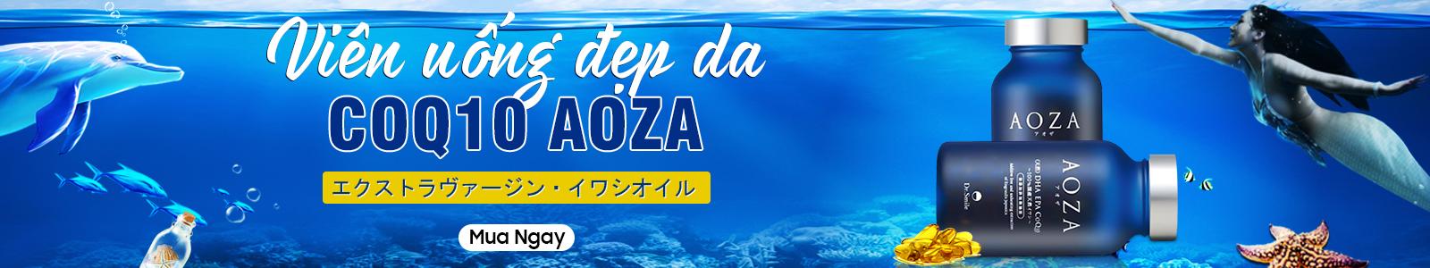 Viên uống đẹp da CoQ10 Aoza Nhật Bản 150 viên