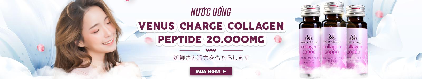 Combo 3 hộp Nước uống Venus Charge Collagen Peptide 20000mg Nhật Bản