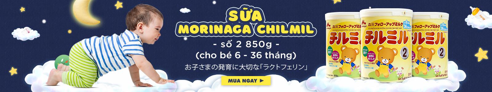 Sữa Morinaga Chilmil số 2 Nhật Bản 850g (Cho bé 6 - 36 tháng)