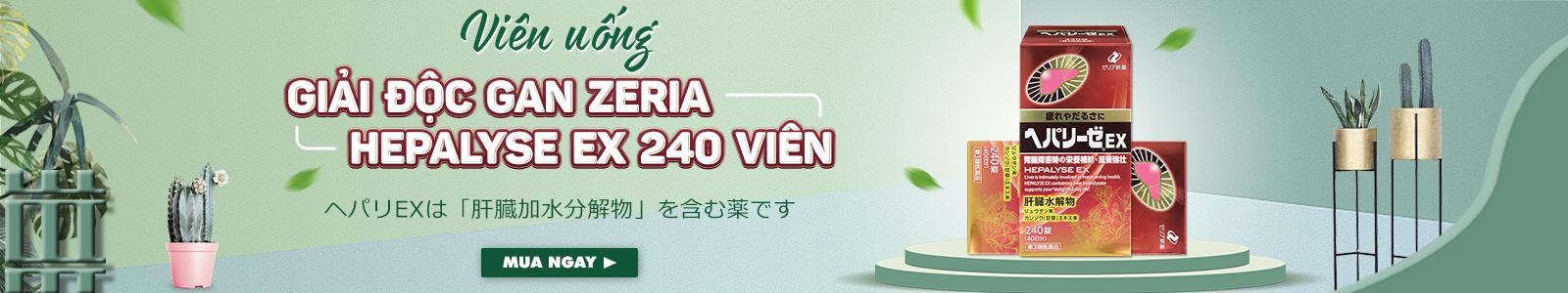 Viên uống giải độc gan Zeria Hepalyse EX 240 viên