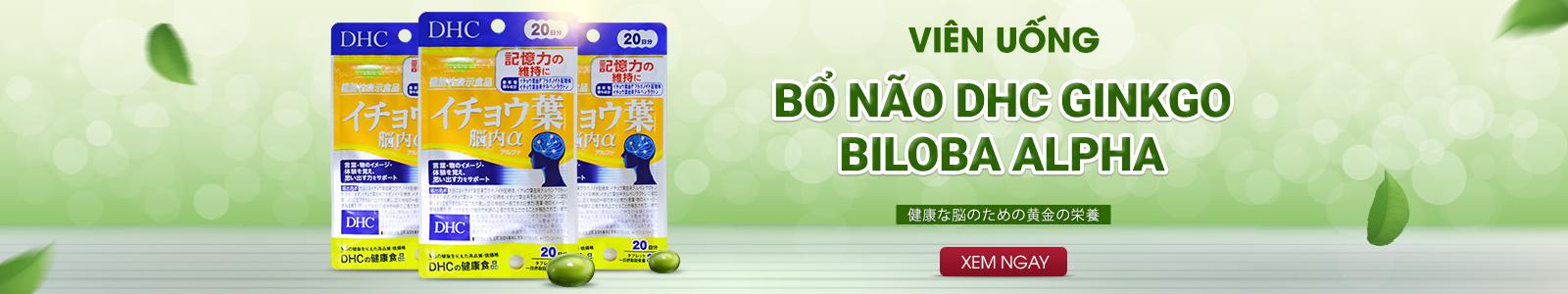 Viên uống bổ não DHC Ginkgo Biloba Alpha 60 viên