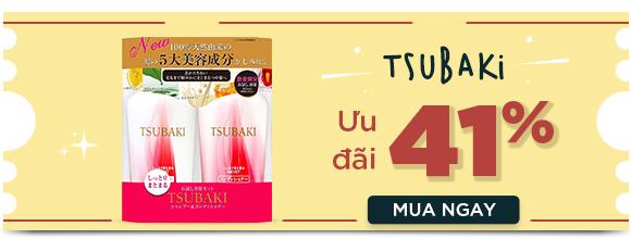 Bộ dầu gội và dầu xả dưỡng ẩm và giữ nếp Shiseido Tsubaki Moist 450ml