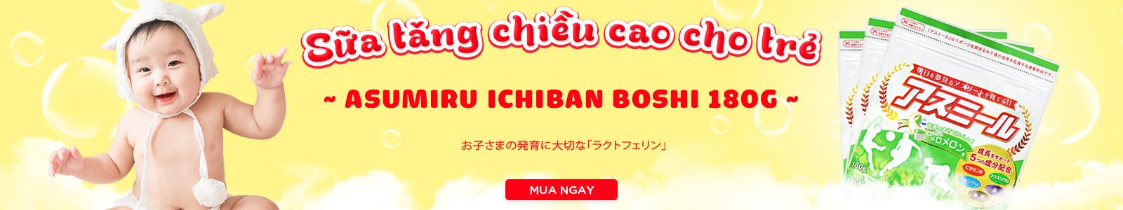 Sữa tăng chiều cao cho trẻ Asumiru Ichiban Boshi