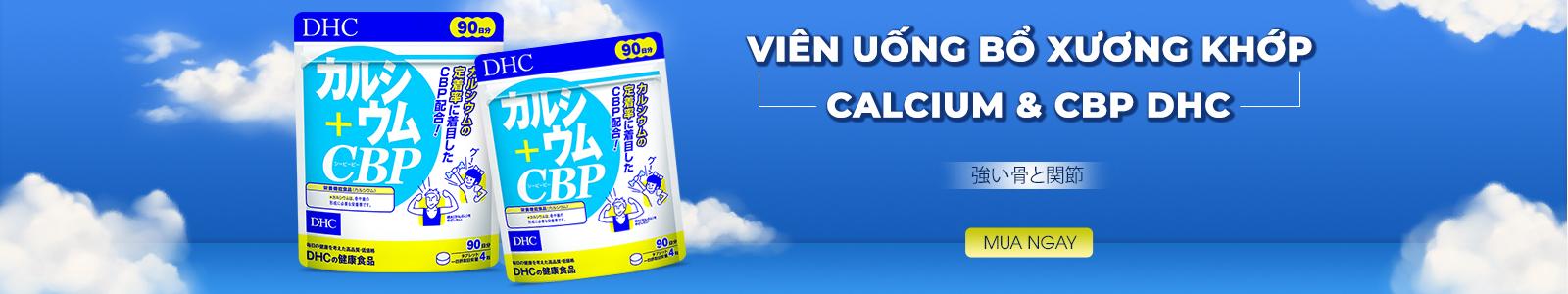 Viên uống bổ xương khớp Calcium & CBP DHC 360 viên