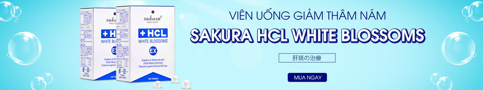 Viên uống hỗ trợ giảm nám Sakura HCL White Blossoms