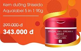 Kem dưỡng Shiseido Aqualabel Gel 5 in 1 90g
