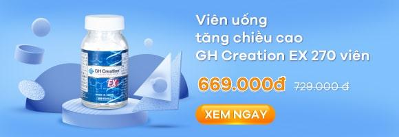 Viên uống tăng chiều cao GH Creation EX 270 viên