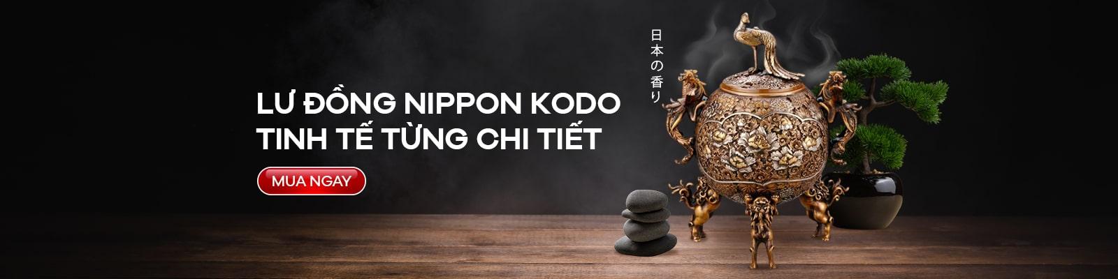 Lư đồng đốt hương Nippon Kodo Tamakujyaku