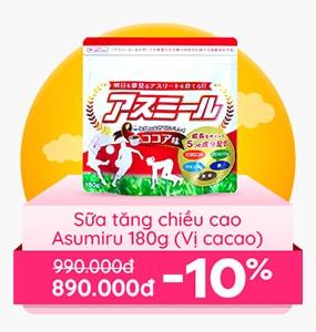 Sữa tăng chiều cao Asumiru (Vị cacao)