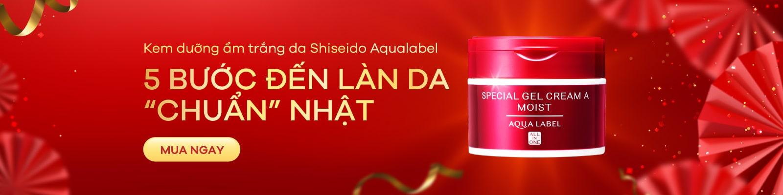 Kem dưỡng ẩm trắng da Shiseido Aqualabel