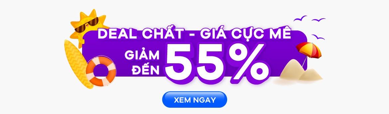 Giảm đến 55%