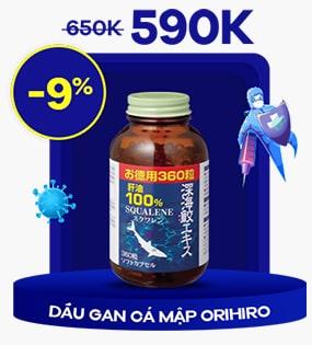 Dầu gan cá mập 100% Squalene Orihiro