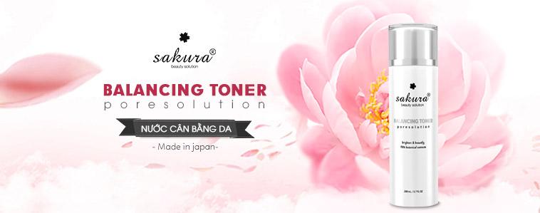 Nước cân bằng da Sakura Beauty Solution Balancing Toner 200ml