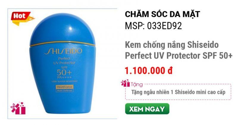 Kem chống nắng Shiseido Perfect UV Protector SPF 50+