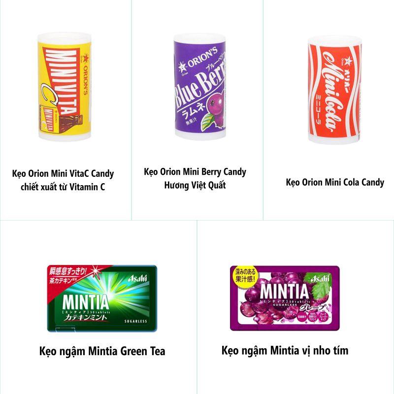 Combo 2 Kẹo Ngậm Bạc Hà Mintia Natural và 3 Hộp Kẹo Mini