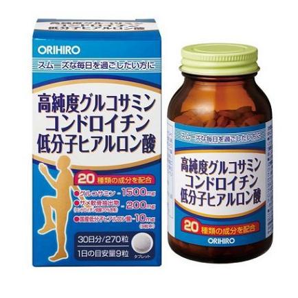 Viên uống bổ xương khớp 3 trong 1 Orihiro Glucosamine Chondroitin Hyaluronic Acid