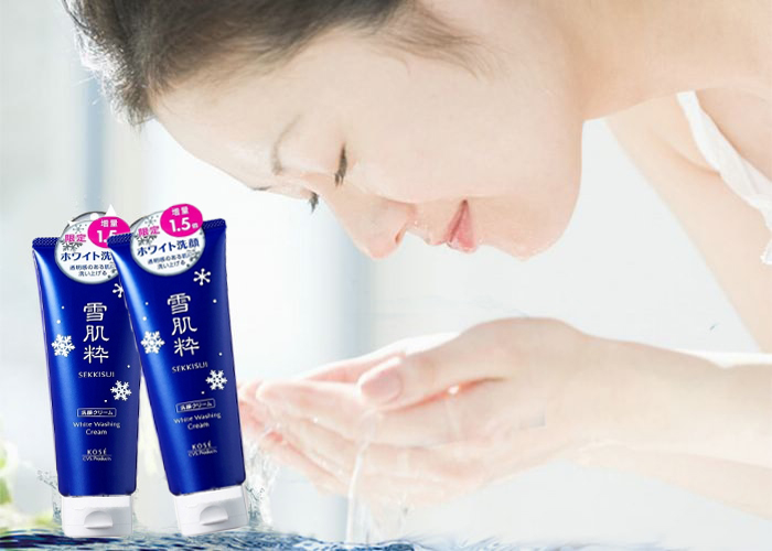 Sữa rửa mặt Kose Sekkisui White Washing Cream 120g