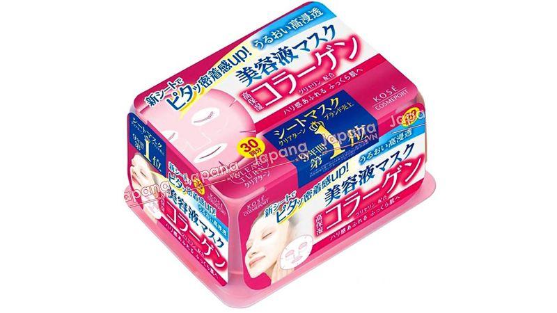 Mặt nạ dưỡng ẩm Kose Q10 Clear Turn White (màu hồng)