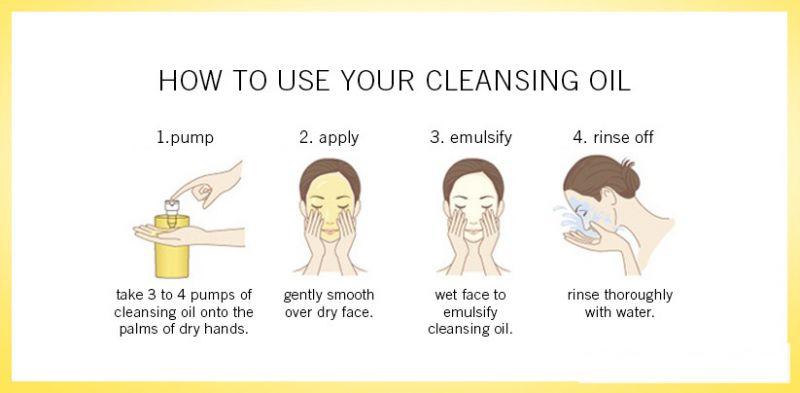 Cách sử dụng dầu tẩy trang Shu Uemura