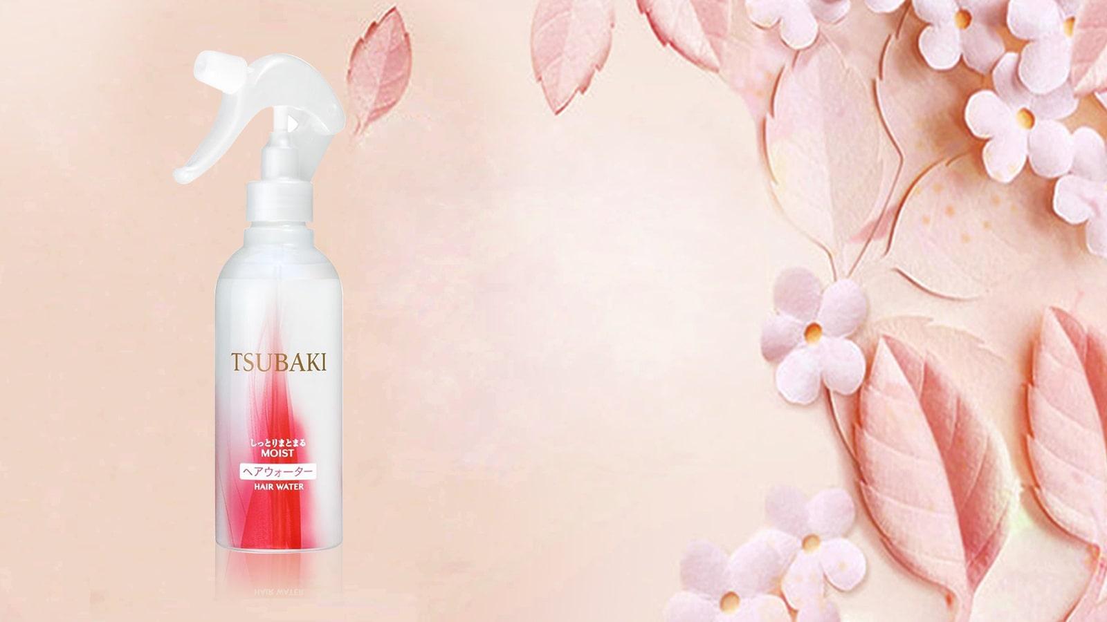 Kết quả hình ảnh cho xịt dưỡng tóc tsubaki của shiseido moist