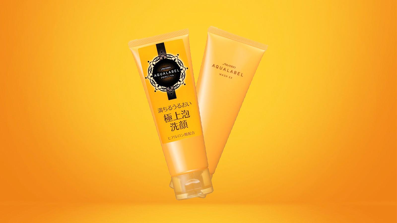 Sữa rửa mặt Shiseido Aqualabel Wash EX màu vàng 110g
