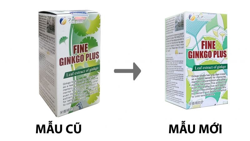Viên uống bổ não Fine Ginkgo Plus Nhật Bản 400 viên