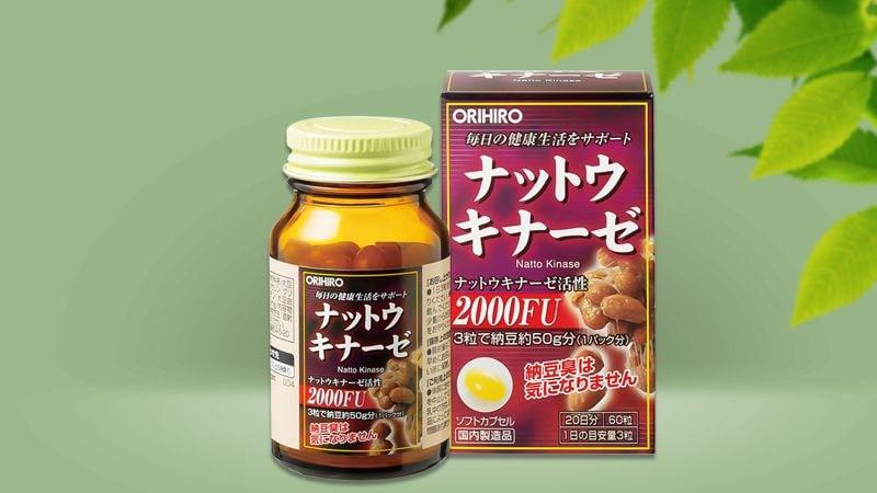 Viên uống Orihiro Nattokinase 2000FU 60 viên