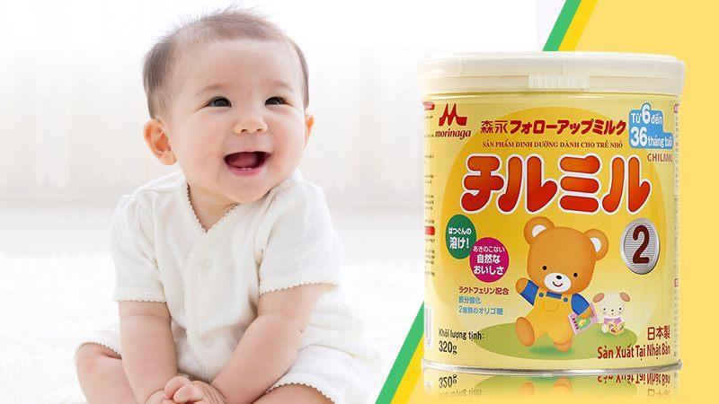 Sữa Morinaga Chimil số 2 Nhật Bản 320g (Cho bé 6 - 36 tháng)