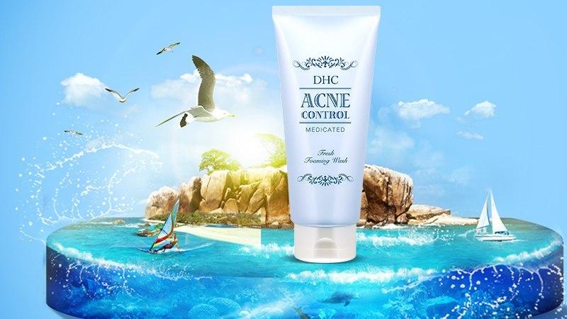 Sữa rửa mặt trị mụn DHC Acne Control Fresh Foaming Wash 120ml