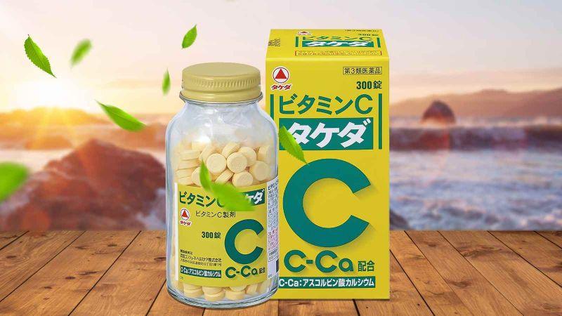 Viên uống trị nám trắng da Vitamin C Takeda 2000mg 300 viên