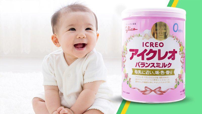 Sữa Glico Icreo số 0 Nhật Bản 800g (Cho bé 0 - 12 tháng)