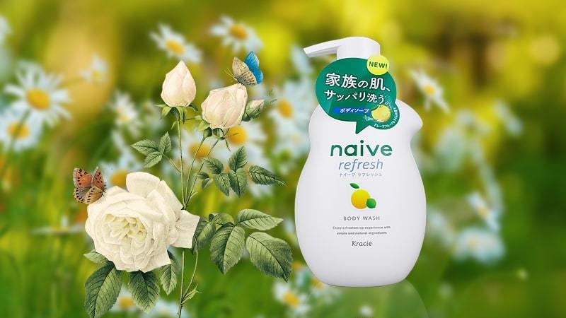 Sữa tắm hương chanh Kracie Refresh Naive 530ml
