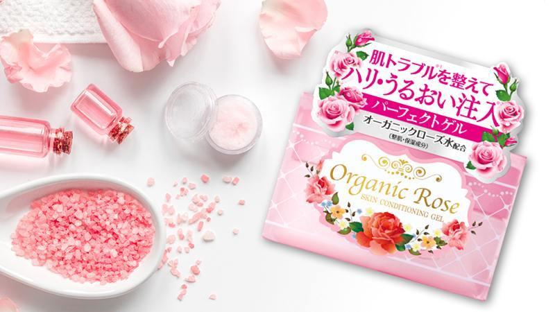 Gel dưỡng Meishoku Organic Rose Skin Conditioner Gel 5 in 1 90g