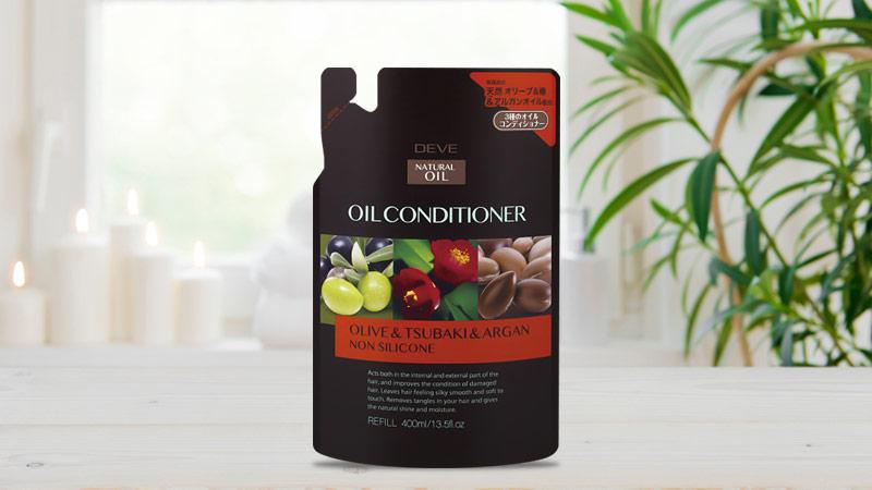 Dầu xả chiết xuất từ dầu hoa trà, dầu Oliu và dầu Argan Kumano Deve 400ml