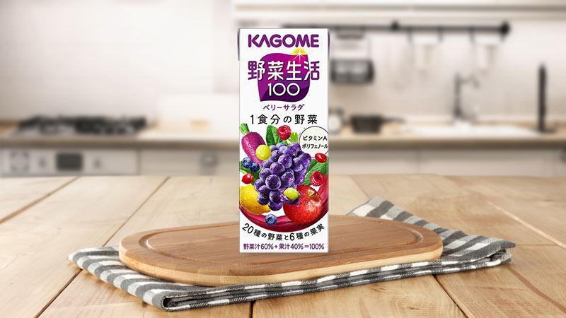 Nước ép rau củ quả nguyên chất Kagome Berry Salad