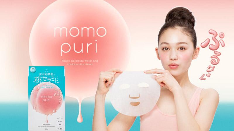 Mặt nạ dưỡng ẩm Momo Puri Jelly Mask 4 miếng