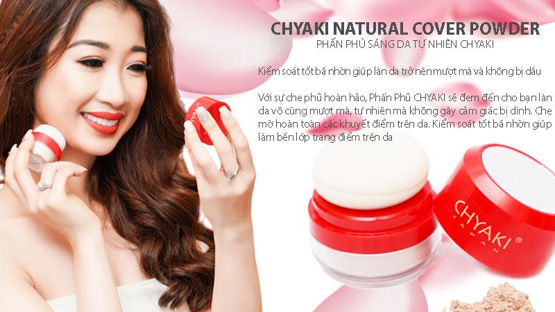 Phấn phủ kiềm dầu Chyaki Natural Cover Powder 8g