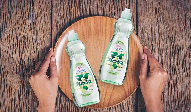 Chai nước rửa bát chén, rau củ My Fresh Rocket Nhật Bản 600ml