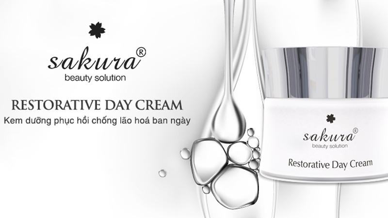 Kem dưỡng chống lão hóa da ban ngày Sakura Restorative Day Cream 30g