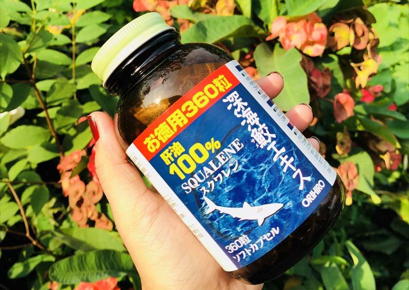 Dầu gan cá mập 100% Squalene Orihiro 360 viên