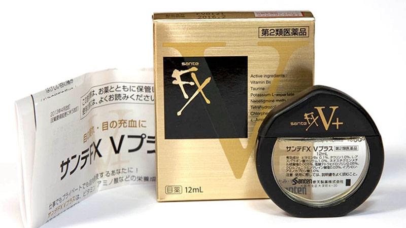 Nước nhỏ mắt Santen FX Nhật Bản 12ml (Màu vàng)