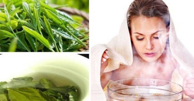 Xông mặt bằng lá trà xanh: Bí kíp để có làn da đẹp