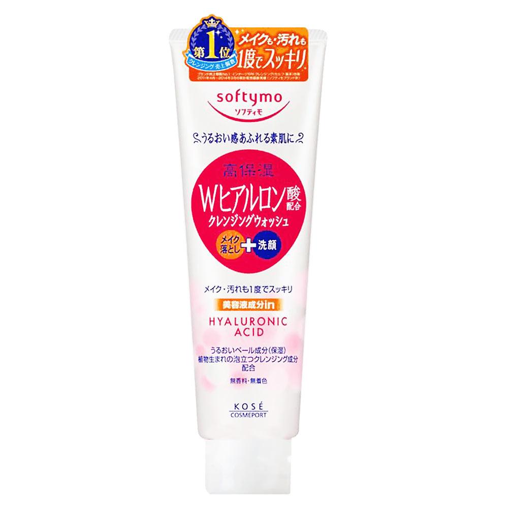 Sữa rửa mặt tẩy trang Kose Softymo Hyaluronic Acid cho da khô