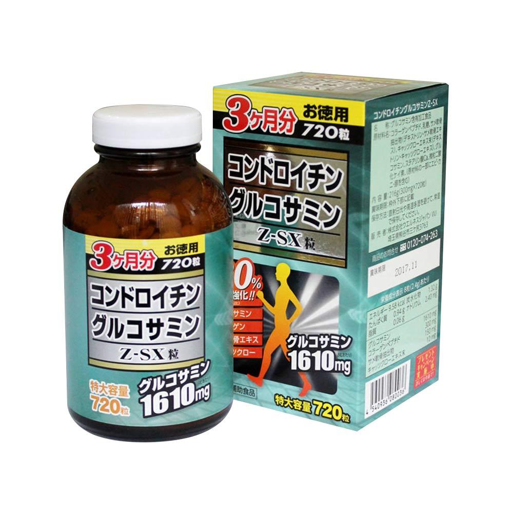 Viên uống bổ xương khớp JpanWell Glucosamine Chondroitin Z – SX 720 viên