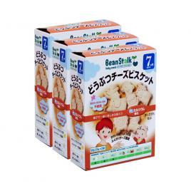 Combo 3 hộp bánh quy ăn dặm vị phô mai Beanstalk 20g (Cho trẻ từ 7 tháng)
