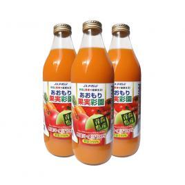Combo 3 chai nước ép hỗn hợp táo, cà rốt và cà chua 100% Ja Aoren 1000ml