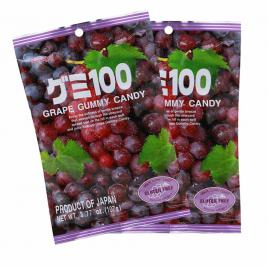 Combo 2 gói kẹo dẻo vị nho đỏ Kasugai (107g)